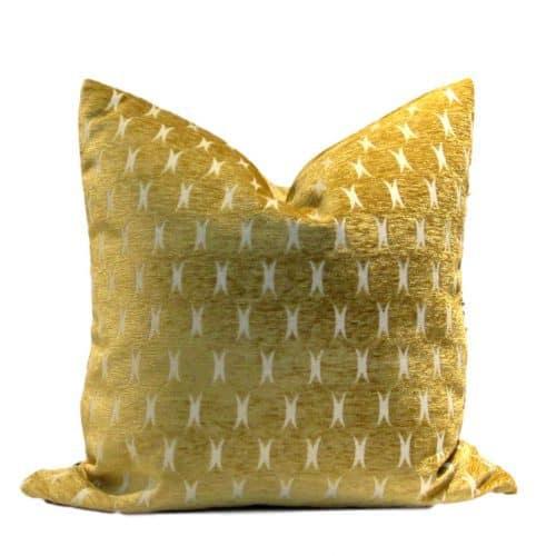 Tribal Saffron Geometric Pillow Cover