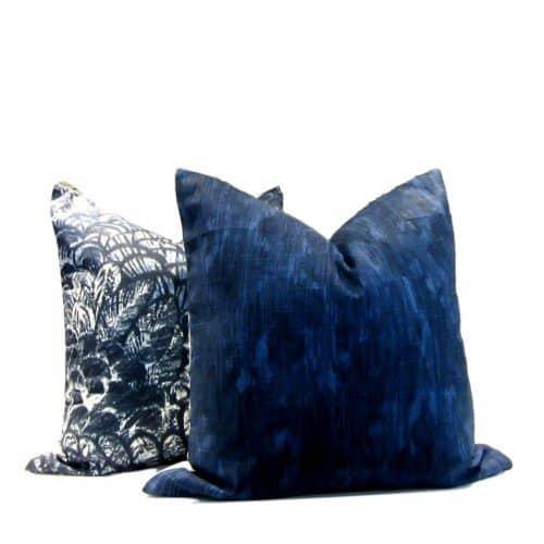 Tribal Print Bandula Batik Pillow Cover Indigo