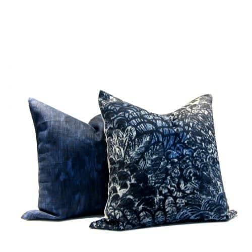 Tribal Print Wimbu Pillow Cover Indigo