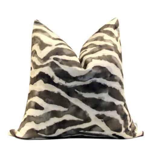 lack White Zebra Print