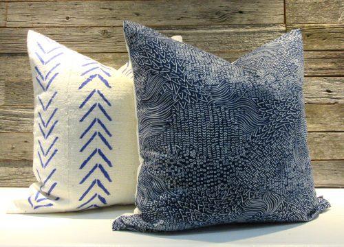indigo African pillow