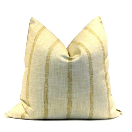 French Farmhouse Pillow Cover Saffron Stripe