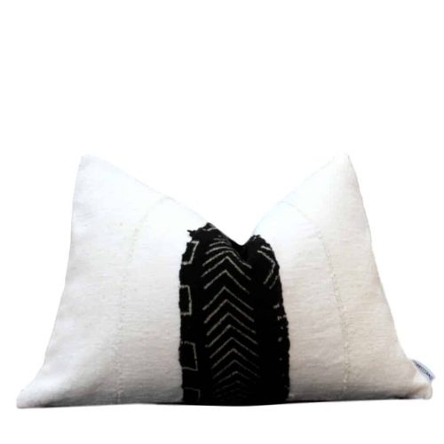 Rowan African White Mud Cloth Pillow