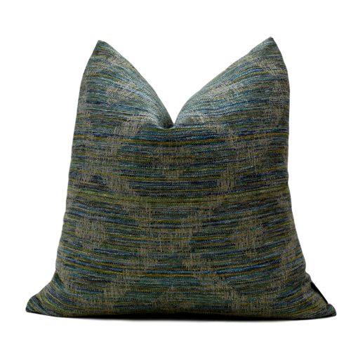 Aqua Multi Stripe Pillow Cover