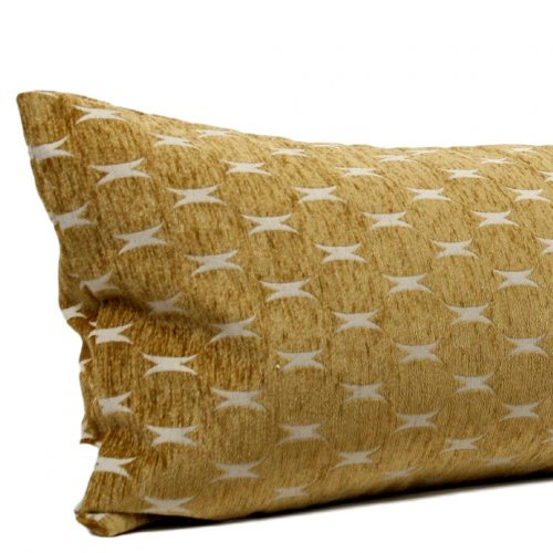 gold geometric long lumbar pillow