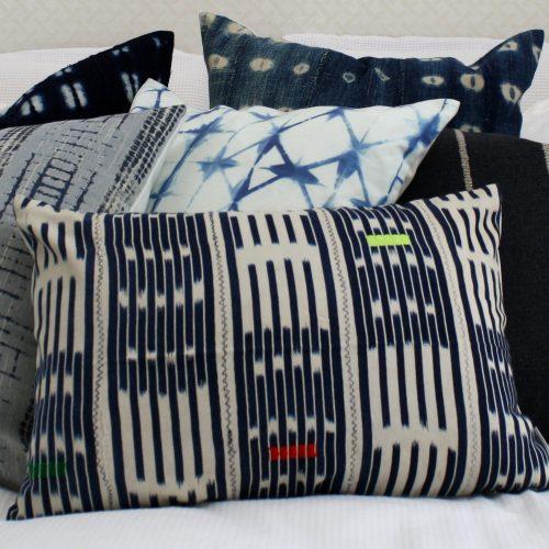 blue white baule fabric