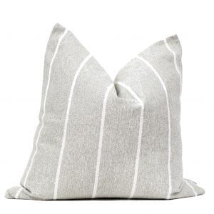 Natural & White Stripe Pillow Cover