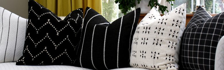 striped solid pillows