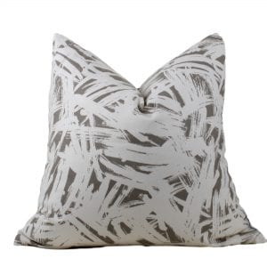 Shannon Cream & Taupe Linen Pillow