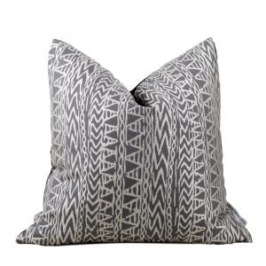 Sadie Taupe Ethnic Design Pillow Cover