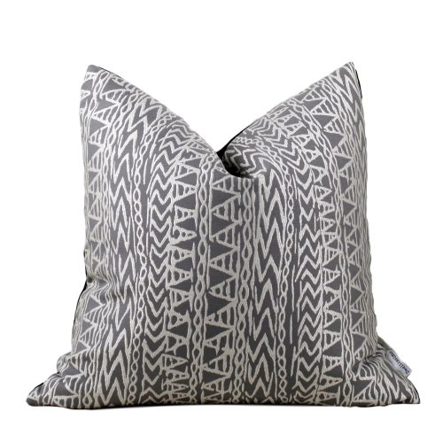 taupe ethnic pillow