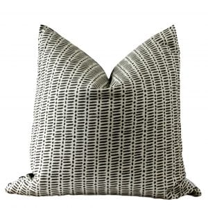 Baxter Classic Black Lines & Dots on Cream Pillow Cover