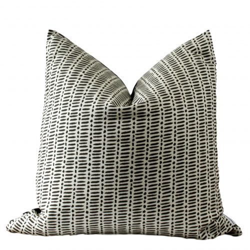 black lines dots pillow