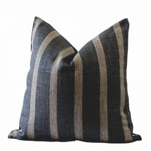 Lucca Pillow Cover Charcoal Stripe