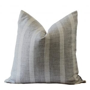 Argento Pillow Cover Grey and Cream Stripe Pillow Cover