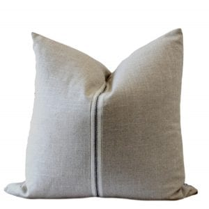 nNatural Linen and Ultra Suede Pillow Cover