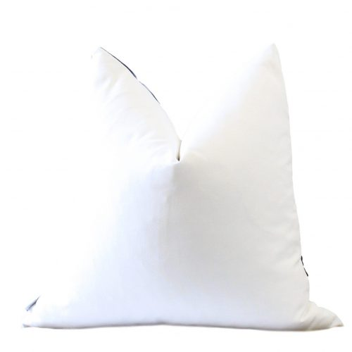 white pillow back