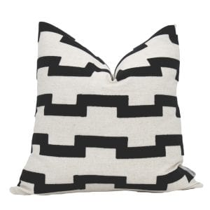 Harley Black and Cream Pillow Cover