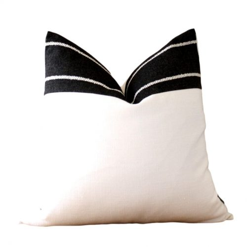 white black pillow